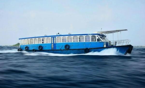 Public ferry boat transfers in the Maldives