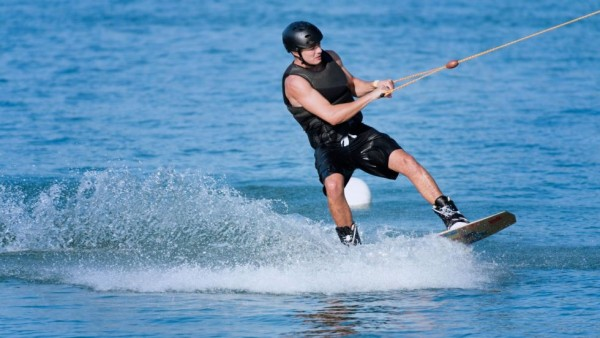 Wakeboarding in the Maldives